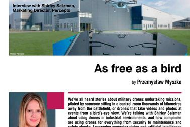 As free as a bird. Interview with Shirley Salzman, Marketing Director, Percepto