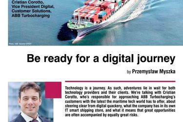 Be ready for a digital journey. Interview with Cristian Corotto, Vice President Digital, Customer Solutions, ABB Turbocharging