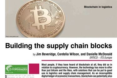 Building the supply chain blocks. Blockchain in logistics
