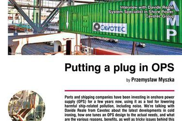 Putting a plug in OPS. Interview with Davide Reale, System Specialist in Shore Power, Cavotec Group