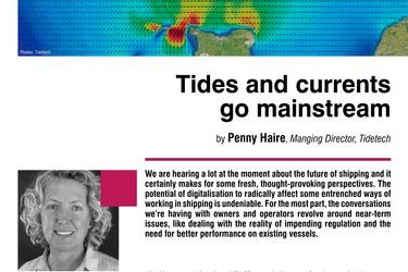 Tides and currents go mainstream. Achieving real-time vessel optimisation with metocean data