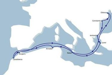 CMA CGM links the Black Sea with the Atlantic via Med.