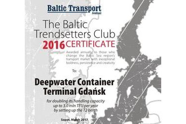 The Baltic Trendsetters Club 2016 Certificates #1