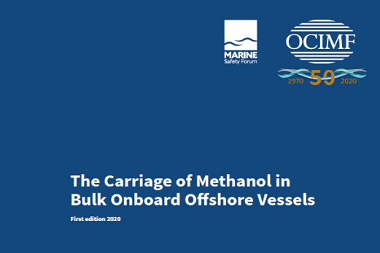 The Carriage of Methanol in Bulk Onboard Offshore Vessels
