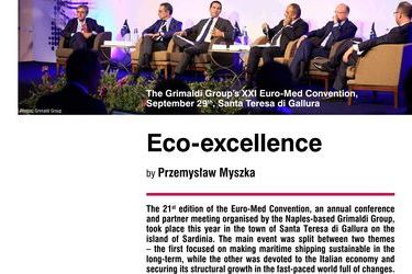 Eco-excellence. The Grimaldi Group's XXI Euro-Med Convention, September 29th, Santa Teresa di Gallura, by Przemysław Myszka