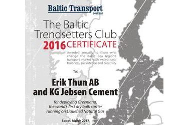 The Baltic Trendsetters Club 2016 Certificates #7