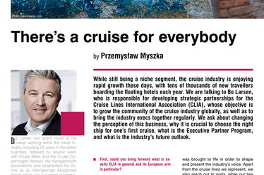 There's a cruise for everybody. Interview with Bo Larsen, Senior Vice President, Strategic Partnerships, CLIA Europe