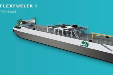 Europe's first LNG bunkering pontoon