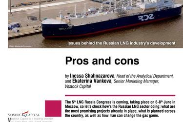Pros and cons. Issues behind the Russian LNG industry's development, by Inessa Shahnazarova, Ekaterina Vankova