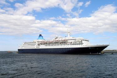 Ventspils' first cruise call