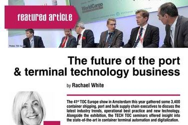 The future of the port & terminal technology business. TOC Europe 2017, 27-29th of June, by Rachael White