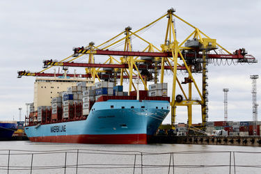 Vistula Maersk arrives in the North