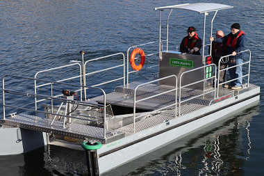 Water Witch fights ocean plastic pollution with electric clean-up boats