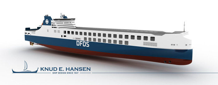 DFDS Seaways' ro-ro newbuild designed by Knud E. Hansen naval architects