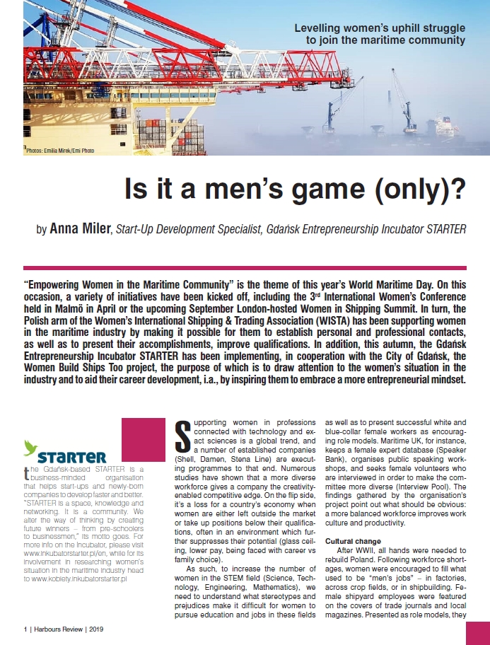 Is it a men's game (only)? Levelling women's uphill struggle to join the maritime community