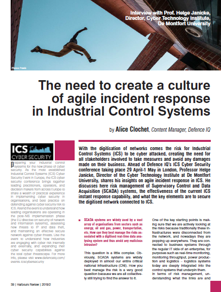 HR 2/19 The need to create a culture of agile incident response in Industrial Control Systems