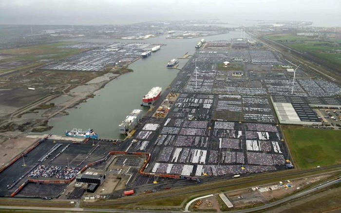 International Car Operators's Hanze and Bastenaken terminals in the Port of Zeebrugge (photo: Port of Zeebrugge)