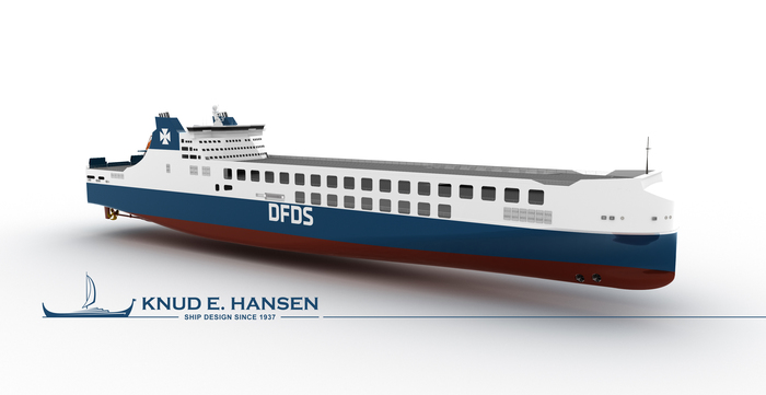DFDS' new ro-ro ship designed by Knud E. Hansen and constructed by the Jinling Shipyard (photo: Knud E. Hansen)
