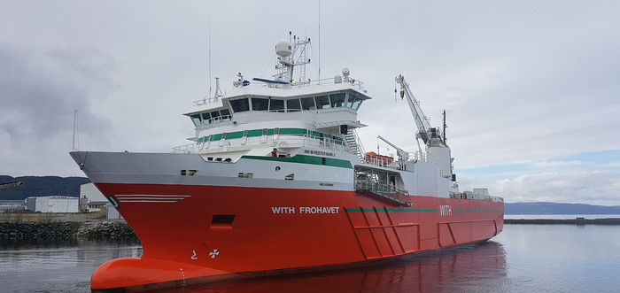 Egil Ulvan's multipurpose vessel With Frohavet
