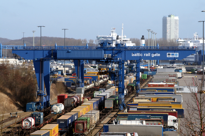 Baltic Rail Gate intermodal terminal in the Port of Lübeck (photo: Baltic Rail Gate)