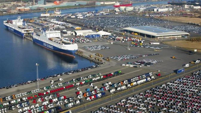 The Mercatordock terminal in the Port of Ghent (photo: DFDS Seaways)