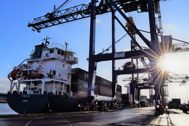 Port of Hull's two brand-new STS cranes made by Liebher (photo: Port of Hull)