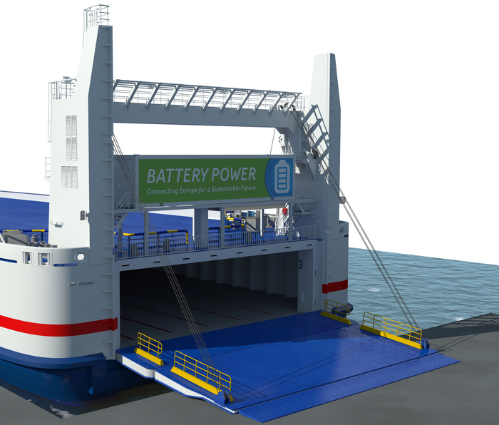 Electrification of Stena Line's ferry Stena Jutlandica (photo: Stena Line)