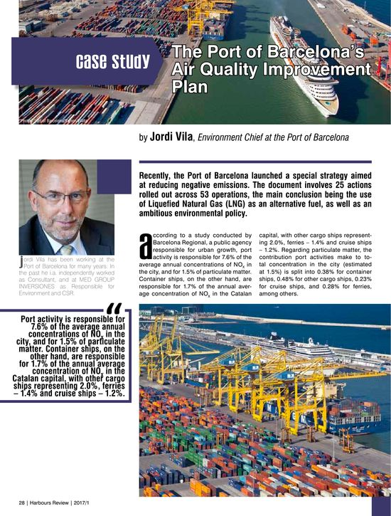 The Port of Barcelona's Air Quality Improvement Plan
